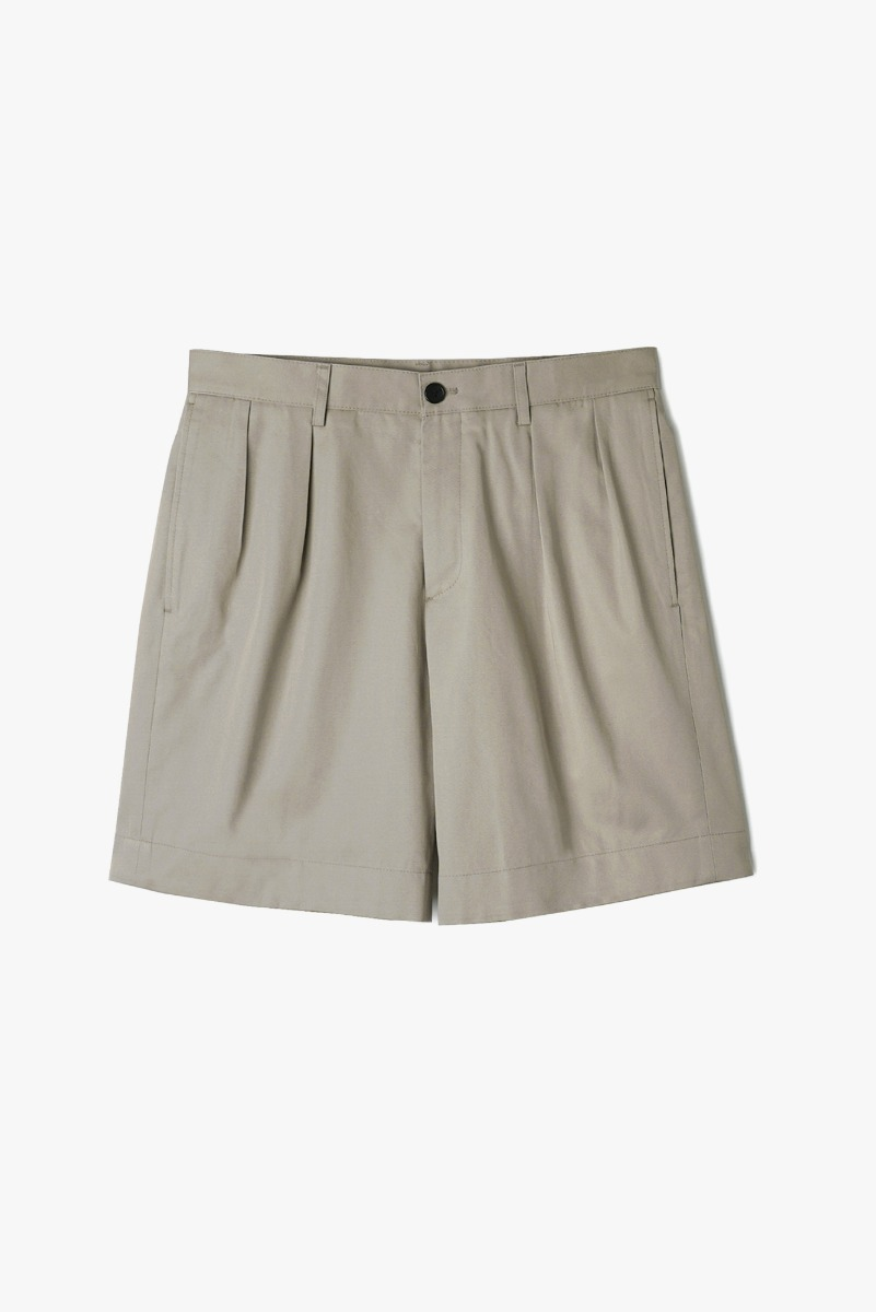 "BANTS VHS Cotton Twill Chino Two-Tuck Shorts ""Beige"""