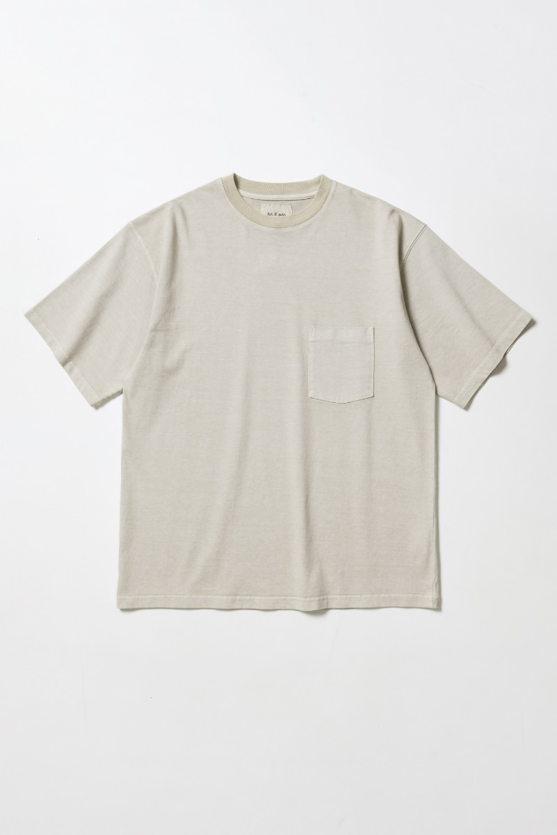 "ART IF ACTS One Pocket Garment Dyeing T-Shirts ""Sand"""
