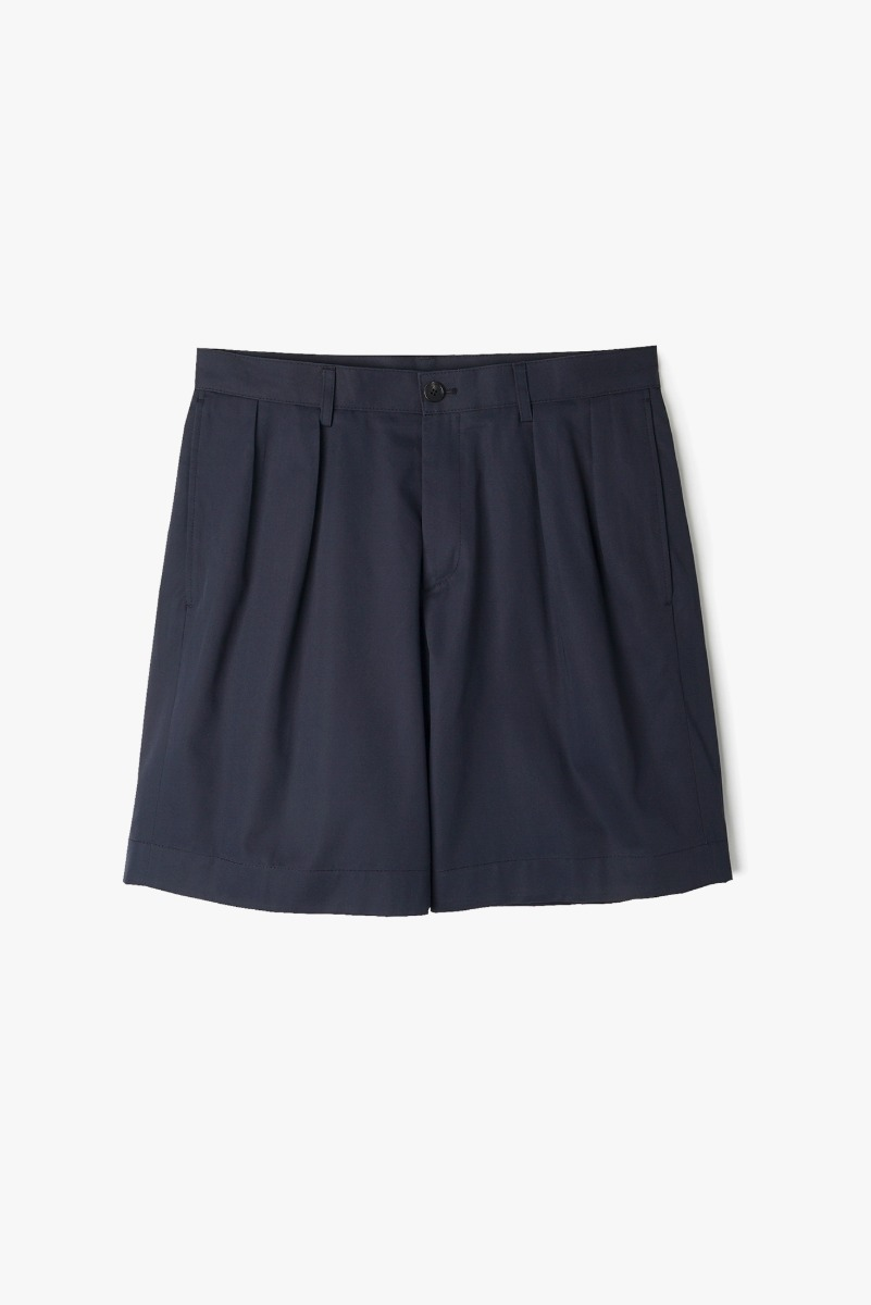 "BANTS VHS Cotton Twill Chino Two-Tuck Shorts ""Navy"""