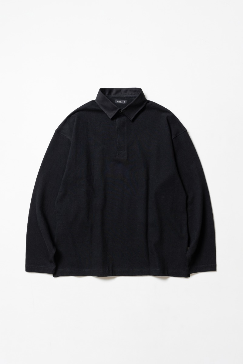 "Nocle Wide Border Rugby Shirts ""Black"""