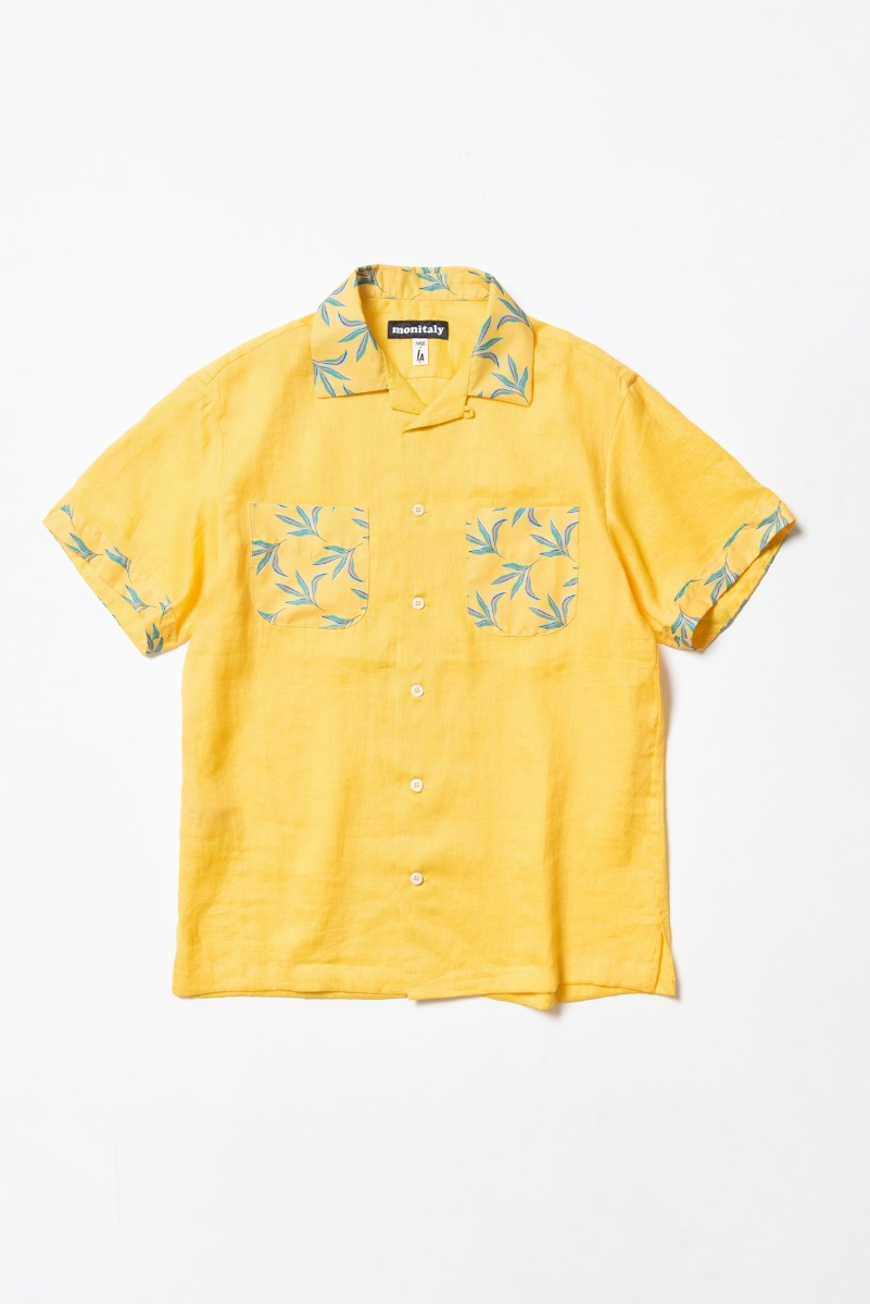 "MONITALY Vacation Shirt ""LT Linen Yellow x Leaf Yellow"""