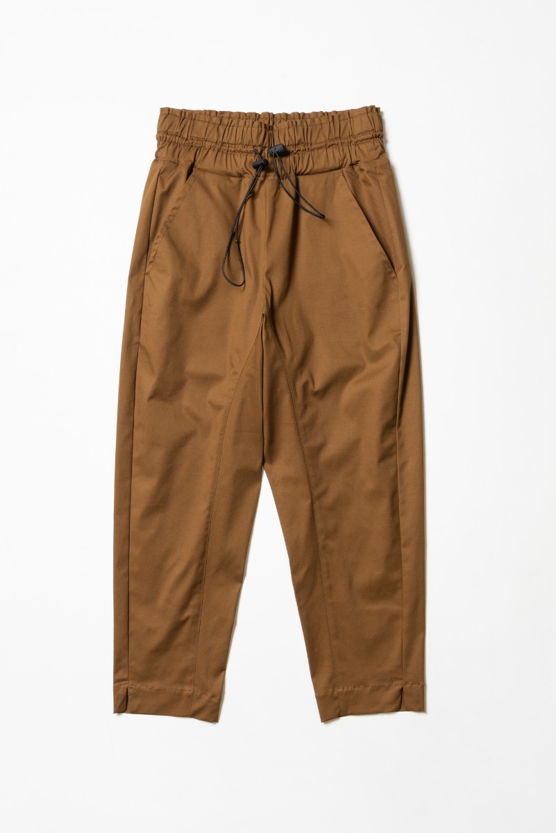 "CORELATE High Waist Banded Trousers ""Chocolate"""