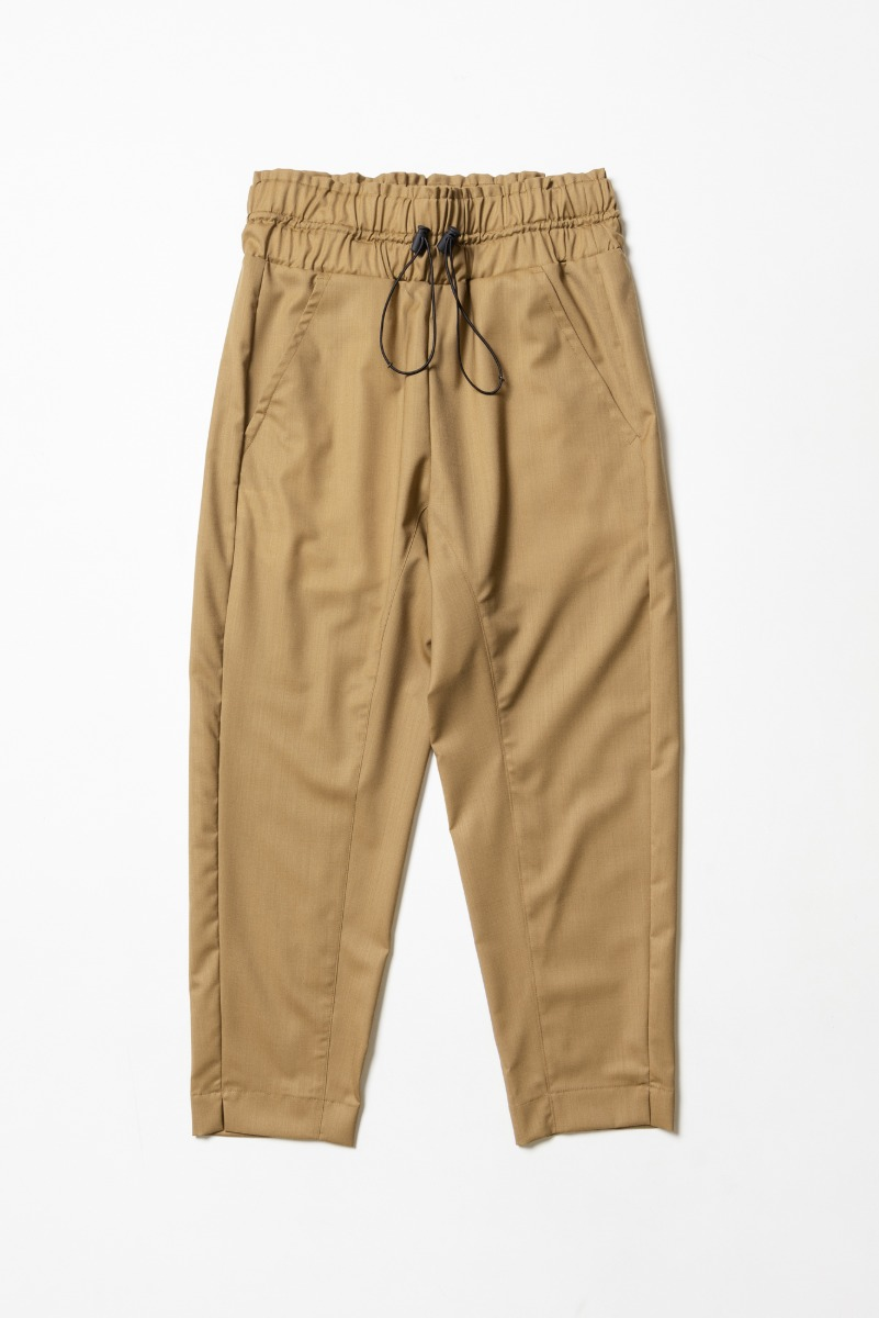 "CORELATE High Waist Banded Trousers ""Camel"""